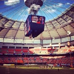 Photo taken at BC Place by Gina on 8/18/2013