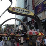 Photo taken at BIFF 광장 (BIFF Square) by Hochul K. on 7/26/2013