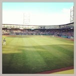 Photo taken at Northeast Delta Dental Stadium by Paola M. on 6/16/2013