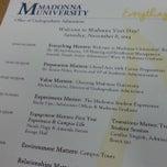 Photo taken at Madonna University by Manuel C. on 11/8/2014
