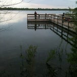 Photo taken at Lake Nokomis Fishing Dock by Mike F. on 5/7/2012