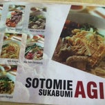 Photo taken at Soto Mie Agih Sukabumi by deddy l. on 3/14/2012