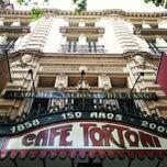 Photo taken at Gran Café Tortoni by gc. on 12/4/2012