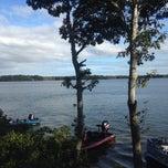 Photo taken at Wequaquet Lake by Laryssa M. on 9/29/2013