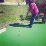 Photo taken at Mac N Bones Mini Golf by Carl C. on 3/30/2014