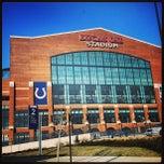 Photo taken at Lucas Oil Stadium by Katie B. on 2/25/2013