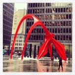 Photo taken at Alexander Calder's Flamingo Sculpture by James D. on 2/22/2013