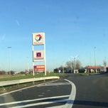 Photo taken at Total Kalken-Zuid by Chris V. on 12/14/2013