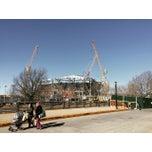 Photo taken at Grandstand - USTA Billie Jean King National Tennis Center by Wen H. on 3/22/2015