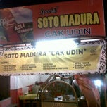 Photo taken at Soto Madura Cak Udin by Dharma S. on 3/12/2014