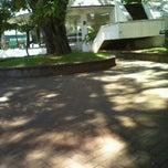 Photo taken at Praça Borges de Medeiros by Raylane V. on 12/7/2013