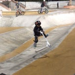 Photo taken at Santa Clarita Skate Park by Marie Z. on 12/30/2013