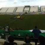 Photo taken at Stade Slaheddine Bey by Mehdi M. on 2/14/2015