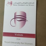 Photo taken at Royal University For Woman (RUW) by SaDooQ A. on 3/25/2013