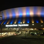 Photo taken at Mercedes-Benz Superdome by Allison O. on 12/9/2012