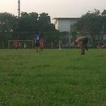 Photo taken at Lapangan Bola FISIP by Krisdianto D. on 6/21/2014