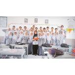 Photo taken at SMA Negeri 10 Padang by Gefry D. on 2/4/2015