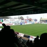 Photo taken at Stadion Sportfreunde Lotte by Max K. on 4/5/2014