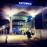 Photo taken at Katowice by Jaroslaw M. on 1/23/2013