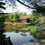 Photo taken at Shofuso Japanese House & Garden by Phil G. on 5/10/2013