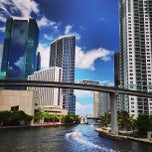 Photo taken at Brickell Ave Bridge by Alexander S. on 6/29/2013