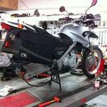Photo taken at Bavarian Motorcycle Workshop by john h. on 7/18/2012