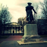 Photo taken at Robert Morris Statue by Calvin R. on 3/7/2013