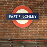 Photo taken at East Finchley London Underground Station by Heydar N. on 1/1/2013