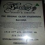 Photo taken at Bacchus Food & Drink by Julie D. on 4/25/2013