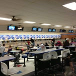Photo taken at Buffaloe Lanes North Bowling Center by Jesse S. on 3/24/2013