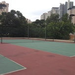 Photo taken at Vista Kiara Tennis Court by Vincent T. on 2/19/2012