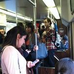 Photo taken at MBTA Green Line - B Train by Jacob F. on 11/8/2011