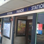 Photo taken at Boston Manor London Underground Station by Jacob G. on 7/25/2012
