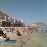 Photo taken at Playa del Postiguet by Mora O. on 8/7/2012