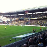 Photo taken at Brøndby Stadion by Rasmus B. on 5/8/2011