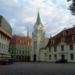 Photo taken at Pils laukums (Castle square) by Kristine M. on 8/31/2011