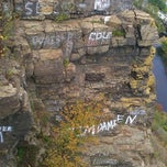 Photo taken at Devil's Pulpit by matt m. on 10/16/2011