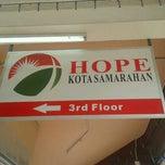 Photo taken at Hope Samarahan by Miss Tinnie O Tinnie T. on 9/2/2012