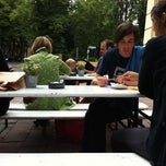 Photo taken at Currywurst & Schampus by Benjamin M. on 6/18/2011