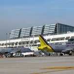 Photo taken at Stuttgart Airport Manfred Rommel (STR) by Mutlu A. on 1/24/2012