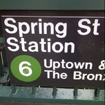 Photo taken at MTA Subway - Spring St (6) by Jasmine K. on 4/11/2012