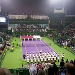 Photo taken at Khalifa International Tennis & Squash Complex by Alberto A. on 1/7/2012