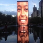 Photo taken at Crown Fountain by Annessa S. on 5/4/2012