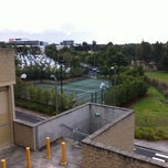 Photo taken at Woolworths HQ Tennis Courts by Antony B. on 8/23/2011