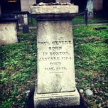 Photo taken at Paul Revere's Tomb by Josh K. on 9/5/2012