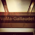 Photo taken at NoMa-Gallaudet U Metro Station by Toby O. on 6/11/2012