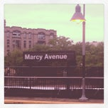 Photo taken at MTA Subway - Marcy Ave (J/M/Z) by Jessica (. on 7/31/2012