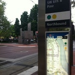 Photo taken at TriMet SW 6th & Pine St MAX Station by Christian B. on 6/10/2011