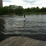 Photo taken at Траектория Wake Park by Zlata S. on 5/13/2012