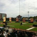 Photo taken at Northeast Delta Dental Stadium by Crystal N. on 9/18/2011